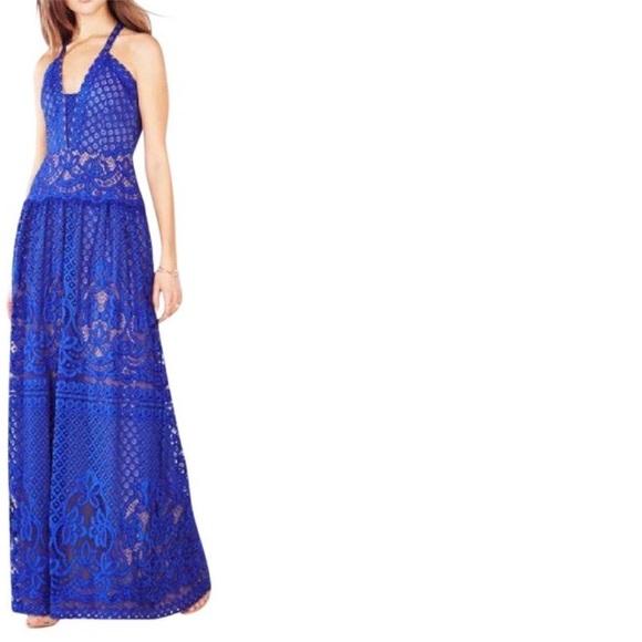BCBGMaxAzria Dresses   Bcbg Christel Floral Lace Gown   Poshmark